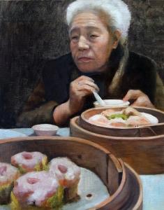 Grandma at Dim Sum